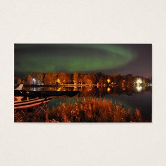 Northern Lights over Lake Hood Business Card