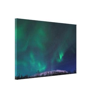 Northern Lights Over Mt Nuolja Canvas Print