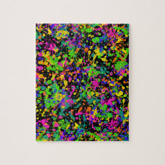 Northern Lights Paint Splatters Jigsaw Puzzle
