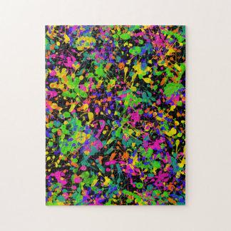Northern Lights Paint Splatters Jigsaw Puzzle