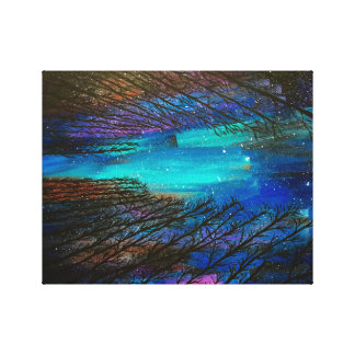 Northern Lights Painting Canvas Print