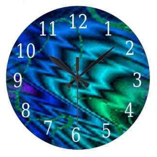Northern Lights Round Clock