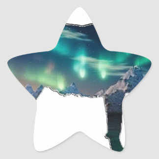 Northern Lights Star Sticker