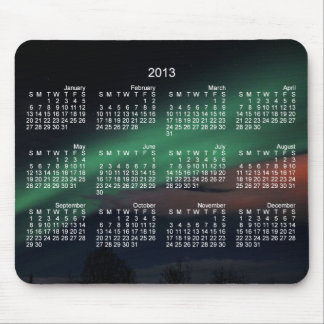 Northern Lights Starry Sky; 2013 Calendar Mouse Pad
