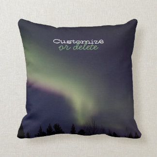 Northern Lights with a Streak of Purple; Custom Throw Pillow