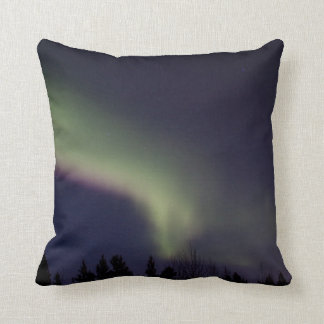 Northern Lights with a Streak of Purple Throw Pillows