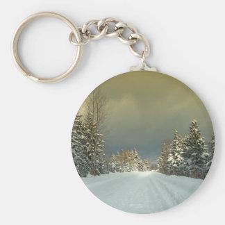 Northern Maine 7 Basic Round Button Keychain