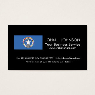 Northern Mariana Islands Flag Business Card
