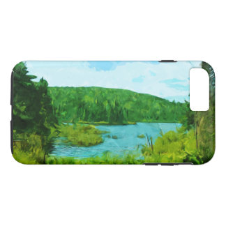 Northern Minnesota Fishing Lake in Summer Abstract iPhone 7 Plus Case
