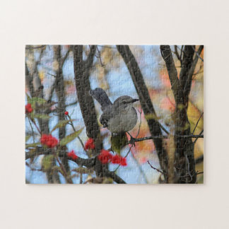 Northern mockingbird puzzles