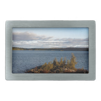 Northern Ontario Lake Rectangular Belt Buckles