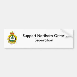 Northern Ontario Separation Bumper Sticker