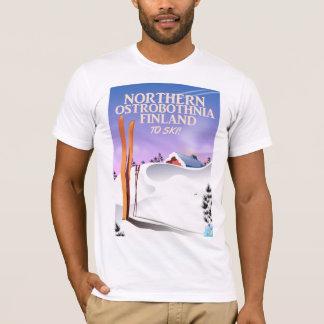 Northern Ostrobothnia Finland ski poster T-Shirt