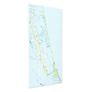Northern Outer Banks North Carolina Map (1985) Canvas Print