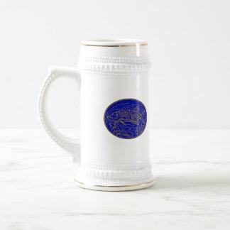 Northern Pike Fish Oval Mono Line Beer Stein