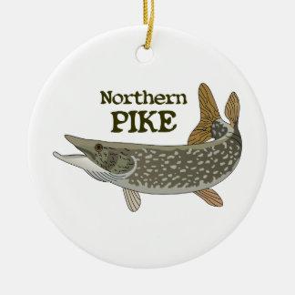 Northern Pike Round Ceramic Ornament