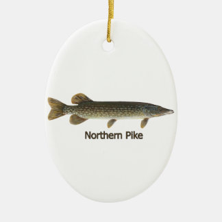 Northern Pike (titled) Ceramic Ornament