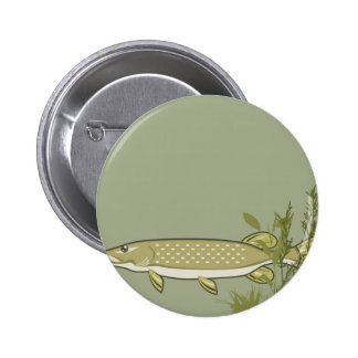 Northern Pike Vector 2 Inch Round Button