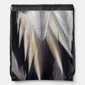 Northern Pintail Duck feather Drawstring Bag