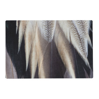 Northern Pintail Duck feather Laminated Placemat