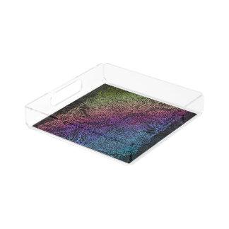 Northern Rainbow night Acrylic Tray