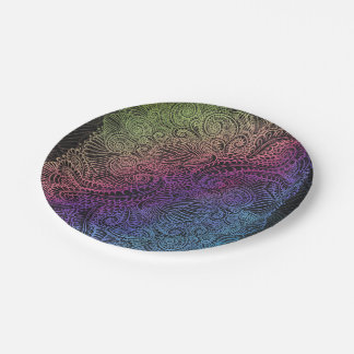 Northern Rainbow night Paper Plate