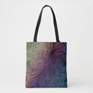 Northern Rainbow night Tote Bag