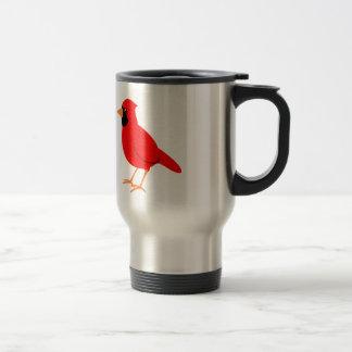 Northern Red Cardinal Bird Travel Mug
