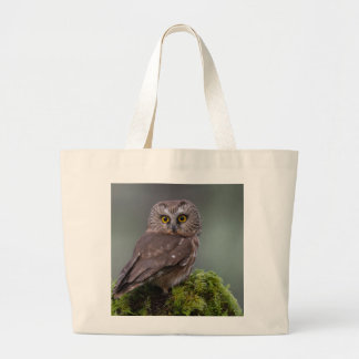 Northern Saw Whet Owl Large Tote Bag