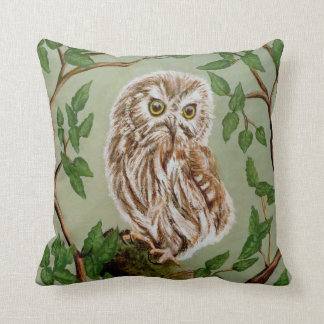 Northern Saw Whet Owl Pillow