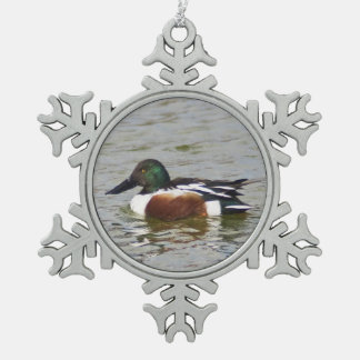 Northern Shovelre Pewter Snowflake Ornament