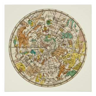 Northern Sky Star Chart and Constellations Map