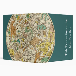 Northern Sky Star Chart and Constellations Map 3 Ring Binder