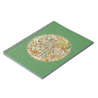 Northern Sky Star Chart and Constellations Map Notebook