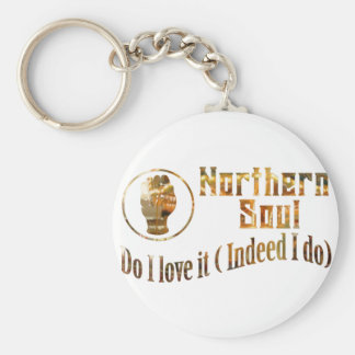 Northern Soul. Do I Love It - Gold Keychain