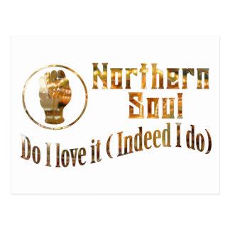 Northern Soul. Do I Love It - Gold Postcard