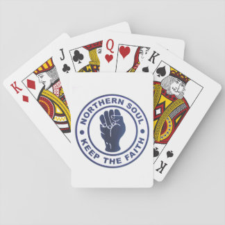Northern Soul Keep The Faith & Fist Symbol Playing Cards