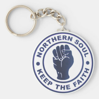 Northern Soul Keep The Faith Slogans & Fist Symbol Basic Round Button Keychain