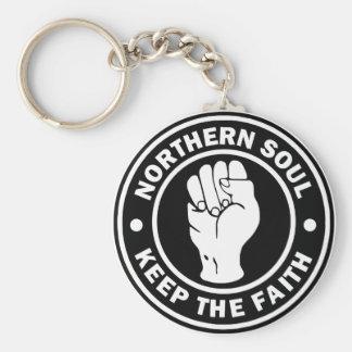 northern soul Logo  black Keychain