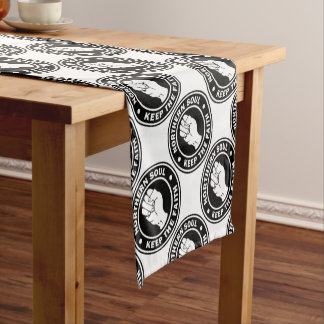 northern soul Logo  black Short Table Runner