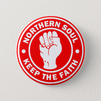 northern soul Logo Red 2 Inch Round Button