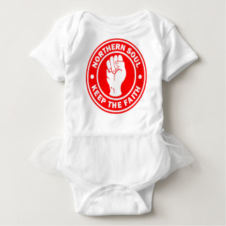 northern soul Logo Red Baby Bodysuit