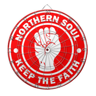 northern soul Logo Red Dartboard