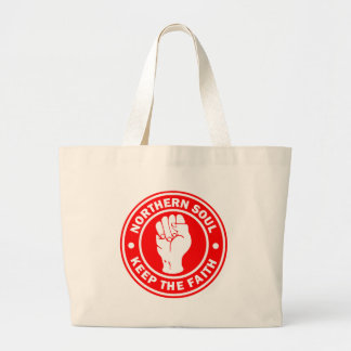 northern soul Logo Red Large Tote Bag