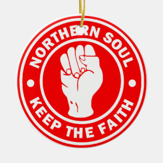 northern soul Logo Red Round Ceramic Ornament