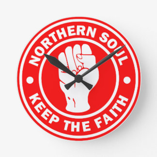 northern soul Logo Red Round Clock