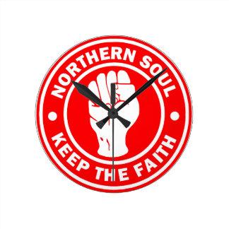 northern soul Logo Red Wall Clocks