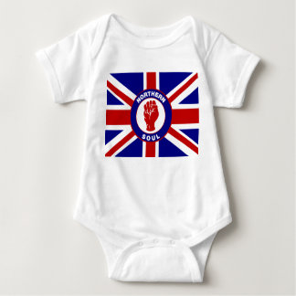Northern Soul Union jack Baby Bodysuit