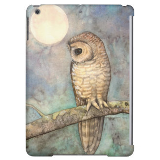 Northern Spotted Owl Watercolor Wildlife Art iPad Air Cases