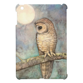 Northern Spotted Owl Watercolor Wildlife Art iPad Mini Cover